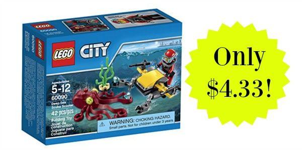 LEGO City Deep Sea Explorers Scuba Scooter Building Kit Only $4.33!