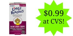 CVS: Little Noses Saline Spray/Drops Only $0.99!