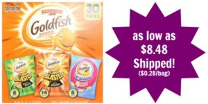 Pepperidge Farm Goldfish Variety Pack Bold Mix 30 count as low as $8.48 Shipped! ($0.28/bag)