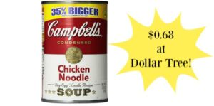 Dollar Tree: Campbell's Chicken Noodle Soup 14oz Only $0.68!