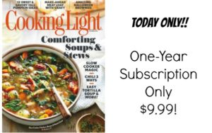 Cooking Light Magazine Subscription Only $9.99!