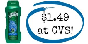 CVS: Irish Spring Body Wash Only $1.49!