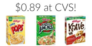 CVS: Kellogg's Cereal Only $0.89!