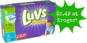 Kroger: Luvs Diapers Only $2.49!