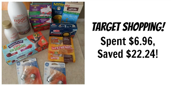Target Shopping: Spent $6.96, Saved $22.24!