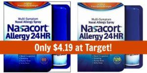 Target: Nasacort Allergy 120 Spray Only $4.19!