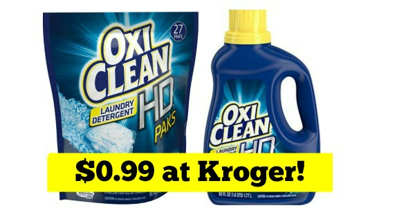 Kroger Oxiclean Detergent Only 0 99 Become A Coupon Queen