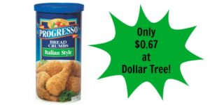 Dollar Tree: Progresso Italian Style Bread Crumbs Only $0.67!
