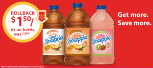 Snapple 64-ounce Bottles on Rollback at Walmart – Only $1.50! #SnappleRollback #CollectiveBias #ad