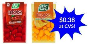 CVS: Tic Tacs Mixers Only $0.38!