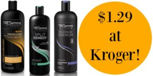 Kroger: TRESemme Hair Products Only $1.29!