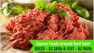 Zaycon Foods: 80/20 Ground Beef Only $2.18/lb or 93/7 Ground Beef Only $2.96/lb