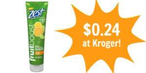 Kroger: Zest FruitBoost Shower Gel Only $0.24!