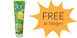 FREE Zest Fruitboost Shower Gels at Meijer!