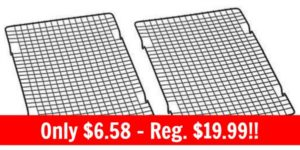 Baker's Secret 10-by-16-Inch Nonstick Cooling Rack, Set of 2 Only $6.58!