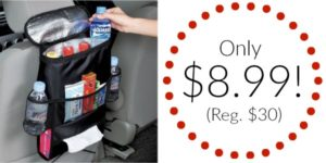 Car Seat Back Organizer Only $8.99 (Reg. $30)!