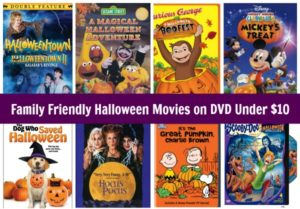Family Friendly Halloween Movies on DVD Under $10!
