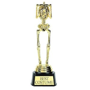Halloween Best Costume Skeleton Trophy Only $6.38!