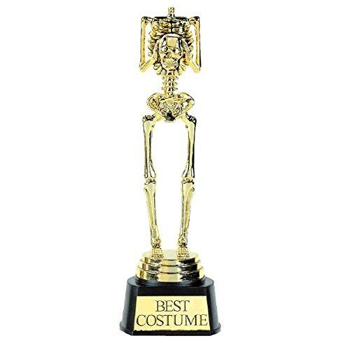 Halloween Best Costume Skeleton Trophy