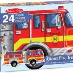 Melissa & Doug Giant Fire Truck Floor Puzzle Only $8.99!
