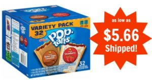 Pop-Tarts Frosted Strawberry and Frosted Brown Sugar Cinnamon 32 ct as low as $5.66 Shipped!