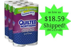 Quilted Northern Ultra Plush Toilet Paper Only $0.21 per roll Shipped!