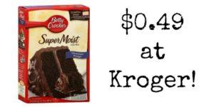 Kroger: Betty Crocker Baking Mix Only $0.49!