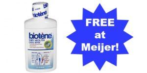 FREE Biotene at Meijer!