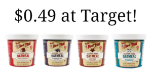 Target: Bob's Red Mill Oatmeal Cups Only $0.49!