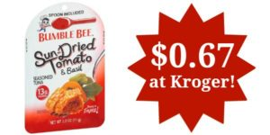 Kroger: Bumblee Bee Seasoned Tuna Pouches Only $0.67!