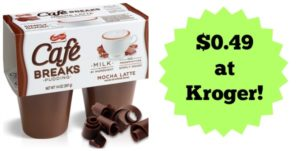 Kroger: Cafe Breaks Pudding Cup 4-pack Only $0.49!