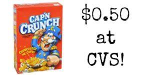 CVS: Cap'N Crunch Cereal Only $0.50!