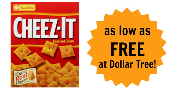 Cheez-It Crackers as low as FREE at Dollar Tree! - Become ...
