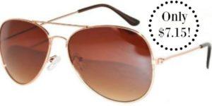 Classic Aviator Sunglasses Only $7.15!