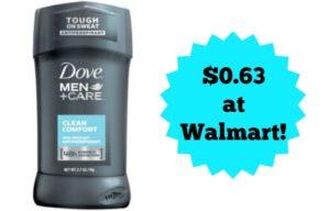Walmart: Dove Men+Care Deodorant Only $0.63!