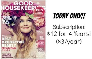 Good Housekeeping Magazine Just $3.00/Year! (cover price $30)