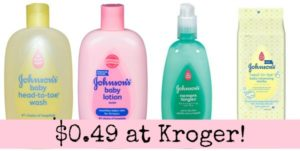 Kroger: Johnson's Baby Products Only $0.49!