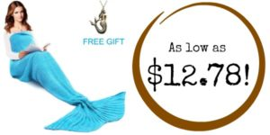 Mermaid Tail Blanket as low as $12.78!