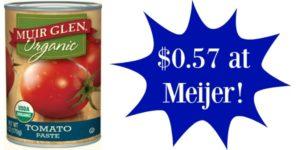 Meijer: Muir Glen Tomato Paste Only $0.57!