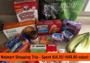 Walmart Shopping Trip – Spent $14.35! ($48.80 value)