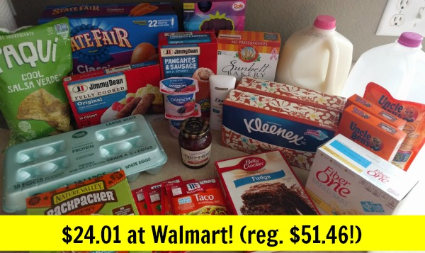 Walmart Shopping – Spent $24.01! (reg. $51.46)!