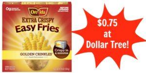 Dollar Tree: Ore-Ida Easy Fries Only $0.75!