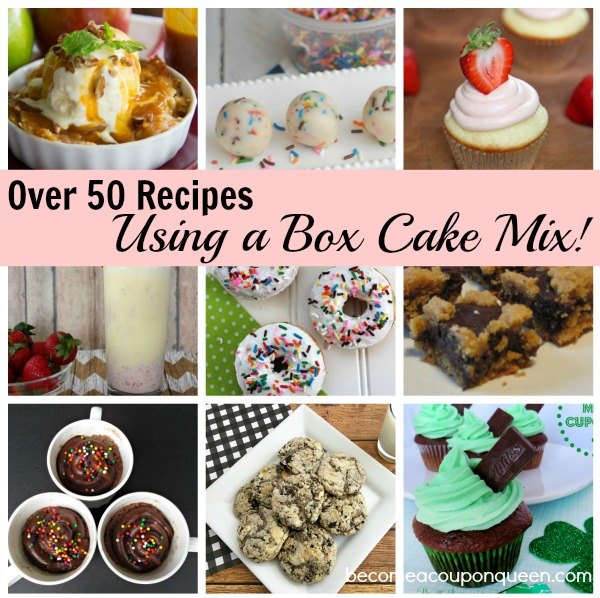 Over 50 Recipes Using Box Cake Mix!