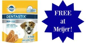 FREE Pedigree Dentastix 5-count at Meijer!