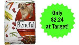 Target: Purina Beneful Dry Dog Food 15lb Bag Only $2.24!