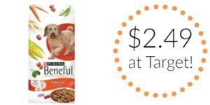 Target: Purina Beneful Dry Dog Food 3.5lb Bag Only $2.49!