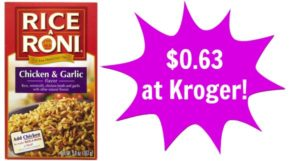Kroger: Rice a Roni Only $0.63!