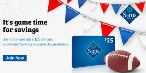 Sam's Club Membership Only $45 + FREE $25 Gift Card + FREE Pizza and Cookies!