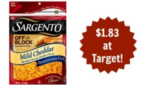 Target: Sargento Shredded Cheese Only $1.83!