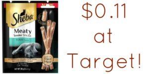 Target: Sheba Cat Treats Only $0.11!